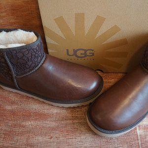 "UGG CLASSIC MINI FLORA LACE BOOTS ""NEW"""